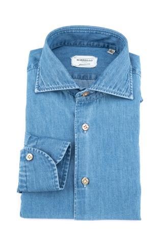 Camicia denim in cotone