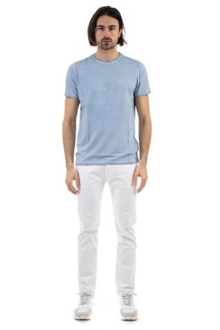 T-shirt stretch in cotone frosted