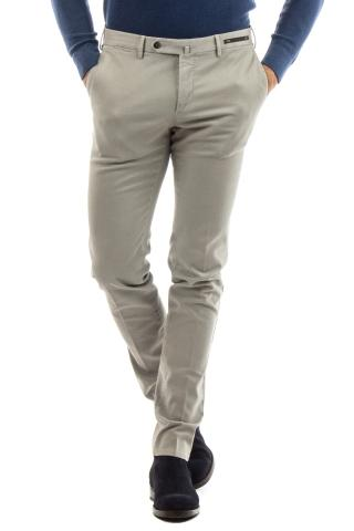 PANTALONE IN COTONE TRAMATO SUPERSLIM FIT