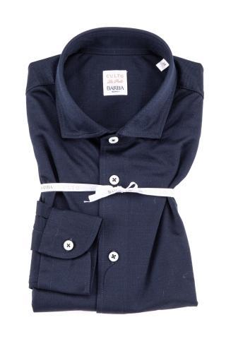 Polo-camicia in cotone stretch
