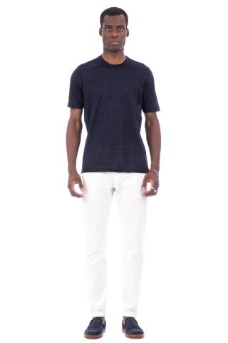 T-shirt girocollo in seta
