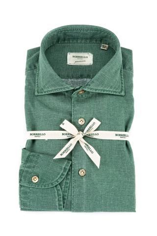 Camicia in lino placcato