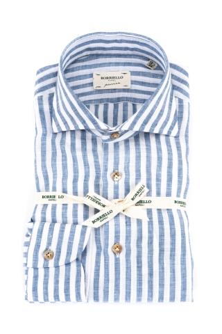 Camicia bacchettata in puro lino