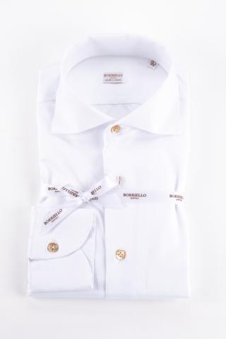 Camicia in cotone collo paramontura
