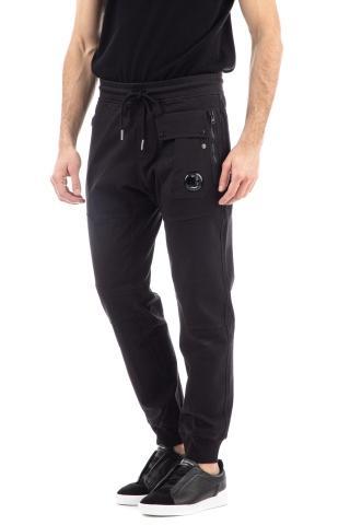 Pantalone felpa in cotone con coulisse