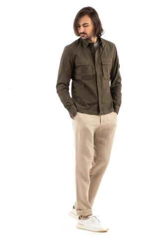 Overshirt in cotone