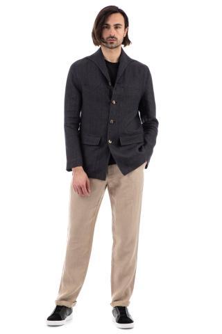 Giacca-camicia in lino