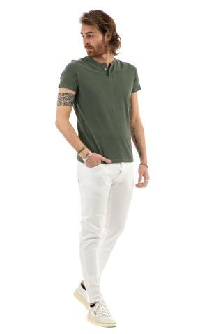 T-shirt serafino in cotone