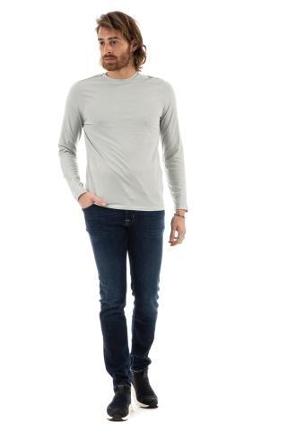 T-shirt in cotone manica lunga