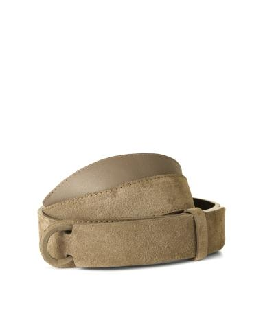 Cintura senza fibbia in camoscio