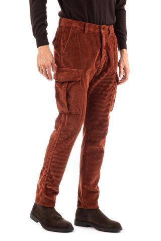 Pantalone cargo in velluto costa francese