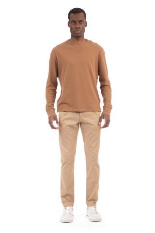 T-shirt manica lunga punto felpa in cotone