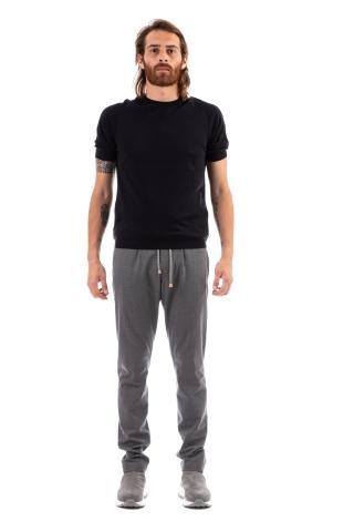 T-shirt sartoriale in lino-cotone