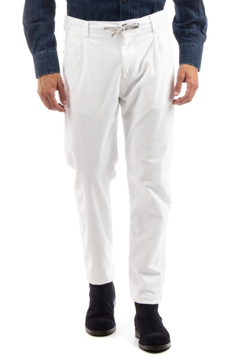 pantalone jogger in velluto costa roccia
