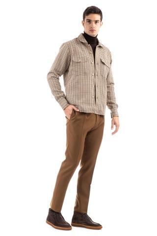 Overshirt in cotone pied de poule