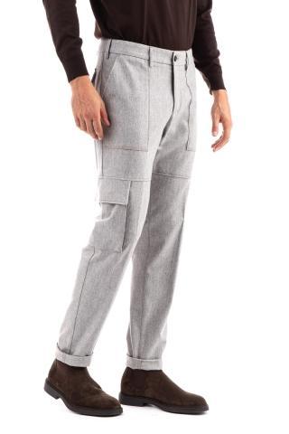 Pantalone in flanella cargo