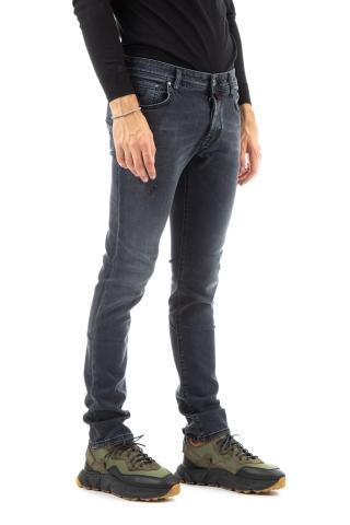 Jeans grigio con micro rotture fit nick slim