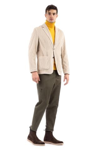 Overshirt in velluto a coste