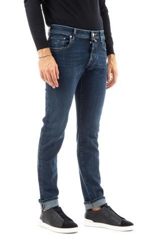 Jeans etichetta bordeaux mod. nick