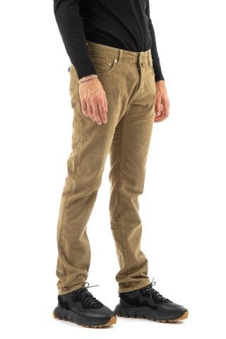 Jeans 5 tasche color in fustagno mod. nick slim