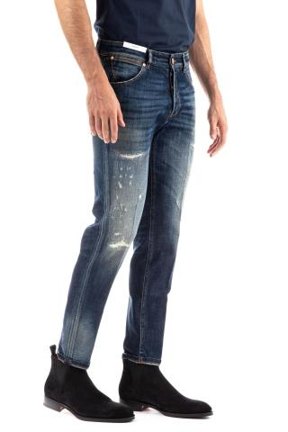 Jeans con micro rotture reggae fit
