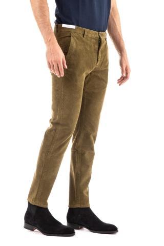 Pantalone in velluto a coste linea jungle