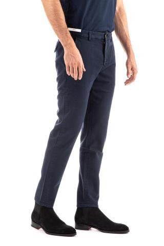 Pantalone in bull di cotone stretch linea jungle