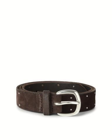 Cintura in camoscio con borchie