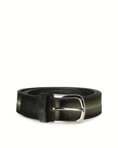 Cintura in velluto liscio con ricami in tessuto
