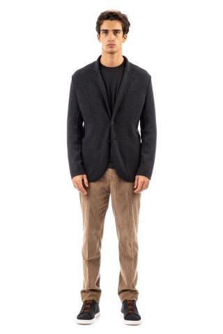 Giacca in maglia in lana-cashmere