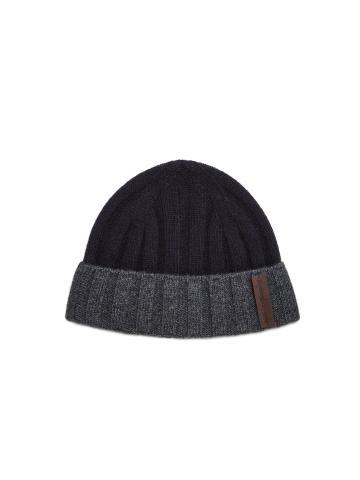 Cuffia a coste in lana-cashmere