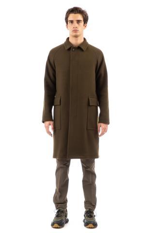 Cappotto monopetto in lana mod. loyd