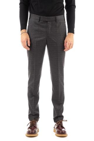 Pantalone in lana quadretti master fit