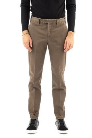 Pantalone in cotone micro struttura master fit