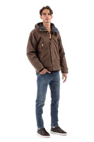 Mountain jacket in cotone spalmato