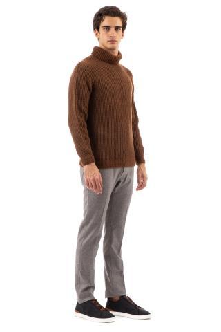 Maglia dolcevita in lana-cotone-bamboo mod. pilar