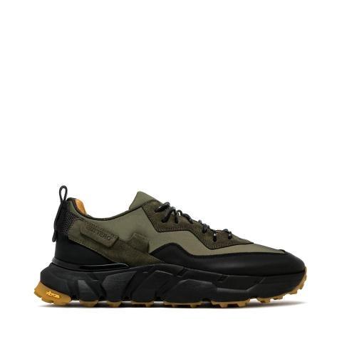 Sneaker in nylon-pelle fondo vibram