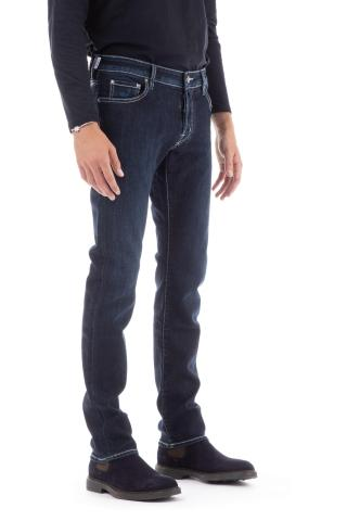 Jeans etichetta razza blu bard fit