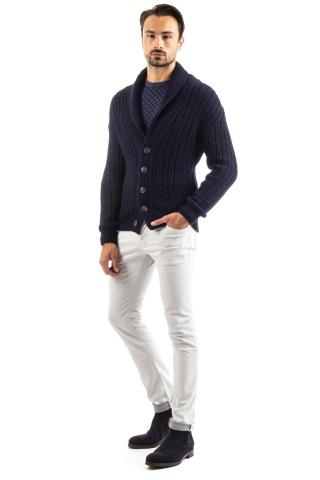 CARDIGAN ARTIGIANALE IN CASHWOOL MOD. STEVE MC QUEEN