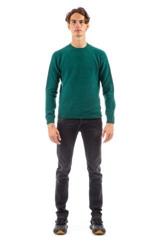 Maglia girocollo in lana-cashmere casentino