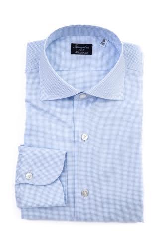 Camicia sartoriale in cotone natural stretch linea milano