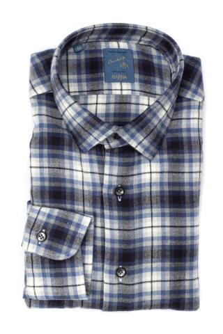 Camicia check in cotone-lana linea dandylife