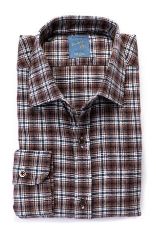 Camicia in cotone flanella check linea dandylife