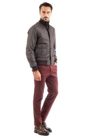 BOMBER IN CERVO SUPERSOFT CON INTERNO IN CASHMERE