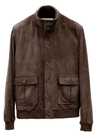 FLIGHT JACKET IN MONTONE NAPPA LISSATO
