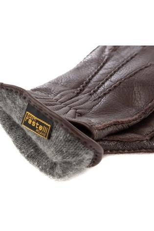 guanto in nappa interno cashmere