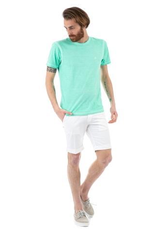 T-shirt in cotone tinto a freddo