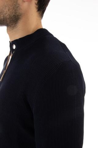 maglia giubbino full zip in cotone