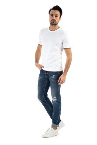 T-shirt girocollo con bordino