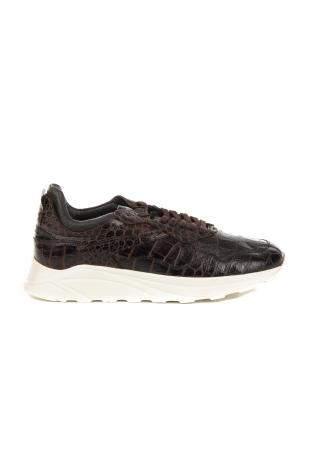 SNEAKERS IN PELLE STAMPA COCCO